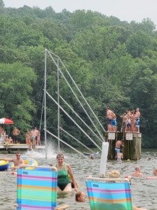 Diving competitions at Mt. Gretna Lake