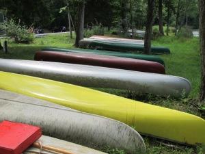 Canoes at Mt. Gretna Lake