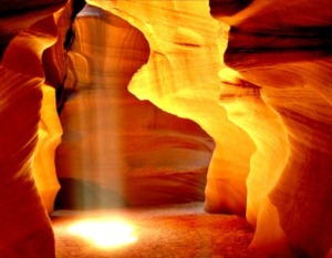 Antelope Canyon  Sun Spot