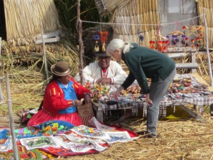 Supporting the arts of the Uros people.